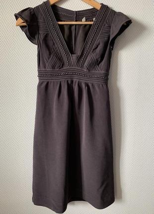 Шелковое платье с перфорацией
