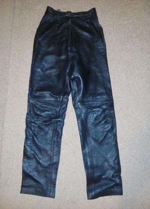 Супер теплые кожаные штаны