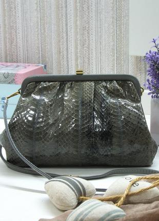 Изящная сумка клатч jane shilton, натуральная змеиная кожа