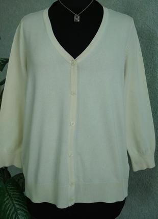 Женский 🍋 лимонный пуловер на пуговицах ук.р-52+.collection debenhams.