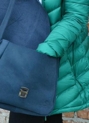Сумка седло с портфельным замком2 фото