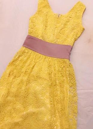Доргое кружевное платье макси