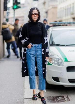 Крутые джинсы с рваностями /с высокой посадкой