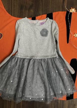 Нарядное платье на девочку 1.5-2 года, рост 92