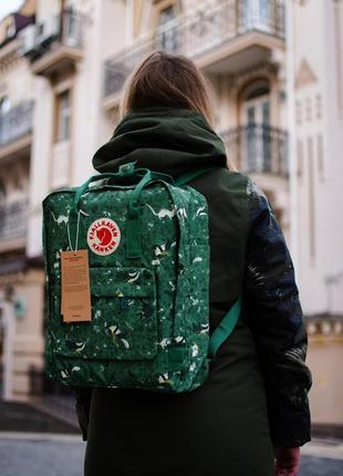 Стильный рюкзак/сумка женский/мужской зелёный fjall raven