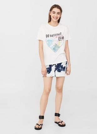 Скидка!модная футболка свободный фасон размер с-м mango