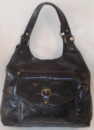Удобная сумка *m & s* натуральная кожа