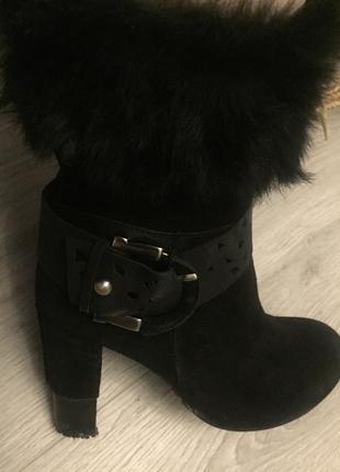 Ботинки зима attizzare замшевые
