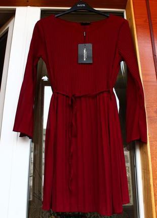 Платье, марсала, бордовое, плаття, сукня