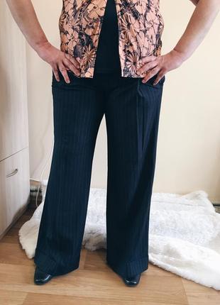 Черные классические штаны{брюки} в полоску