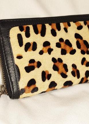 Кошелек женский кожаный большой леопардовый jones bоotmaker