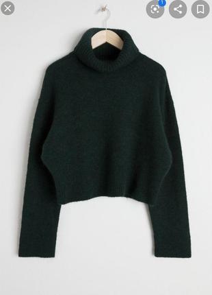 Шерстяной мохеровый свитер с высоким горлом