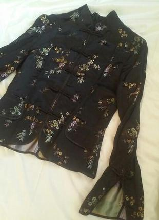 Жакет пиджак в японском стиле кимоно вышивка возможен обмен