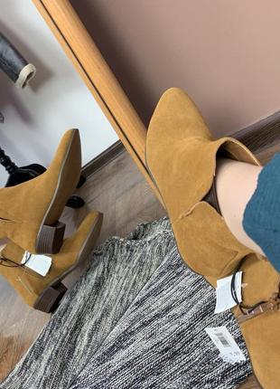 Замшевые ботильоны ботинки gap оригинал новые