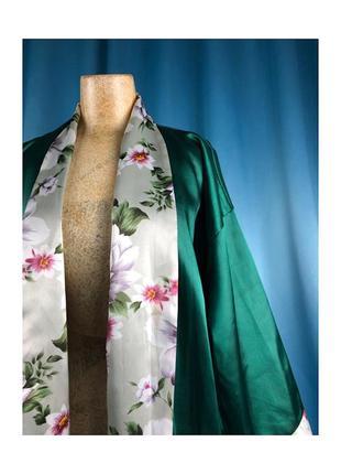 Халат кимоно атласный оверсайз