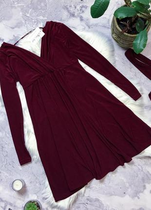 Новое с биркой шикарное платье марсала