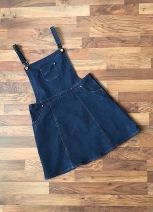 Стильный синий джинсовый сарафан размер xl