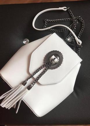 Очень стильная оригинальная кожаная сумка италия сумка шкіряна