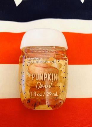 Американский санитайзер pumpkin donut от bath and body works,гель для рук парфюмом
