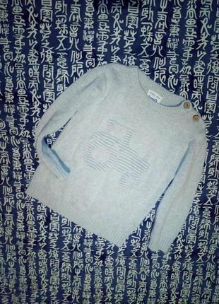 Нарядный свитерок с тракторам на мальчугана 92/98 см рост