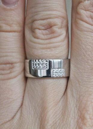 Серебряное кольцо аура р.17,5