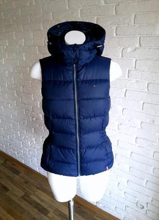 Tommy hilfiger натуральный пуховой жилет 100% оригинал ( пуховик жилетка пуховая куртка)
