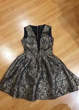 Платье-золото