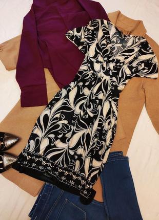 Dorothy perkins платье чёрное белое с поясом и карманами