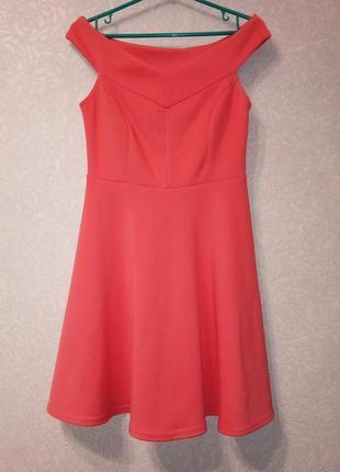 Платье беби долл, юбка колокол, нежный коралл от atmosphere.