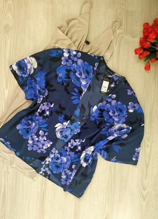 Накидка, кимоно с цветочным принтом