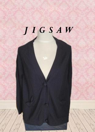 🌹🌹jigsaw 100% шерсть базовый женский кардиган от люксового бренда синий l🌹🌹🌹