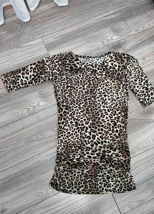 Леопардовое платье туника