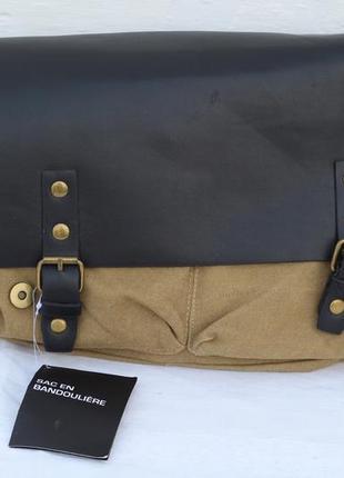 Эксклюзивная  мужская котонова  сумка sac en bandouliere