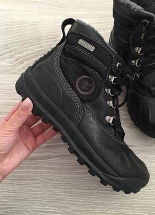 Зимние кожаные сапоги ботинки timberland