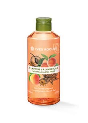 Гель для ванны и душа персик – анис 400 мл ив роше франция