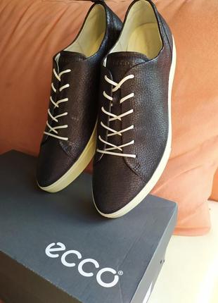 Ecco новые сникерсы кожа кеды екко оригинал