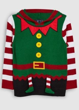 Новогодний свитер эльф. на 7 лет