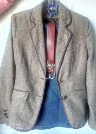 Стильный пиджак, жакет от h&m 50%шерсть