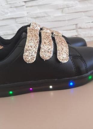 Кроссовки светящиеся кеды светодиодные