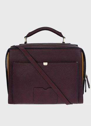 Женский бордовый портфель