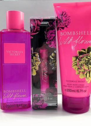 Bombshell wild flower от victoria's secret парфюмированная вода мист лосьон