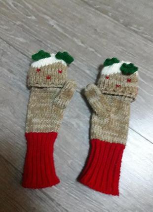Перчатки-варежки очень теплые