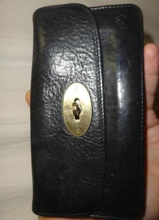 Клатч кошелек mulberry 8159кожаный