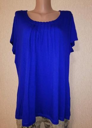 🔥🔥🔥стильная женская трикотажная футболка, блузка 18 р. marks & spencer🔥🔥🔥