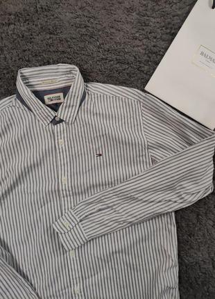 Стильная рубашка в полоску tommy hilfiger shirt