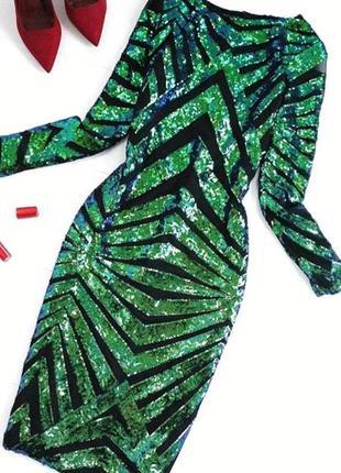Новогоднее вечернее платье за супер ценой паетки
