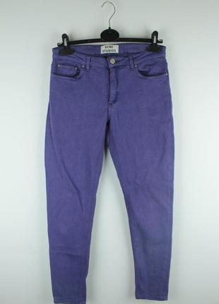 Оригинальные стильные джинсы acne studios skin 5 lilac