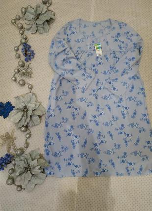 Ночнушка флисовая для девушки, мамы, бабушки подарок
