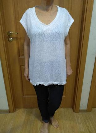 Стильная легкая футболка с красивой спинкой. размер 20