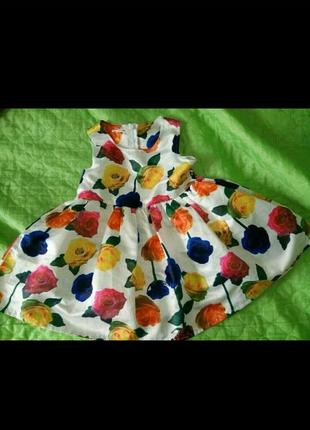 Нарядное платье с цветочками